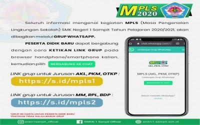 Pengumuman Masa Pengenalan Sekolah (MPLS) SMK N 1 Sampit